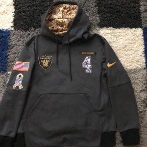 Oakland Raiders Nike Carr Salute to Service Hoodie
